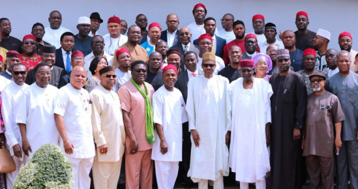 PRESIDENT BUHARI RECEIVES DELEGATION OF APC SOUTH EAST LEADERS